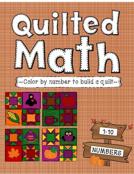 Color By Number - Fall Quilt (Numbers 1-10)