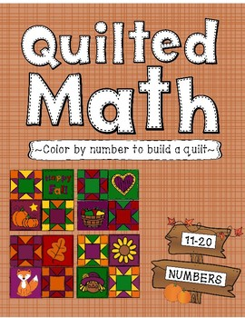 Color By Number - Fall Quilt (Numbers 11-20)