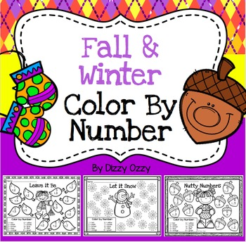 Color By Number: Fall and Winter
