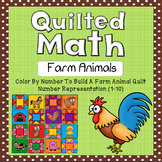Color By Number - Farm Animal Quilt (Number Representation 1-10)