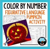 Color By Number : Figurative Language Pumpkin Activity