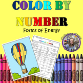 Color By Number- Forms of Energy