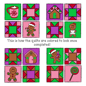 Color By Number - Gingerbread Math Quilt (Numbers 1-20)