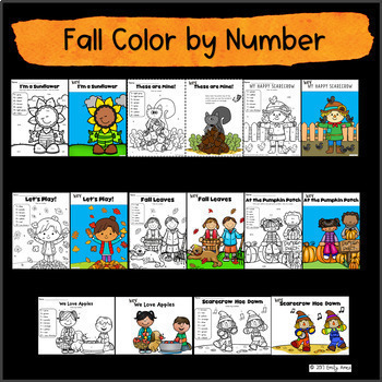 Color By Number Growing Bundle -- Addition & Subtraction-- Numbers 1-10; 11-20
