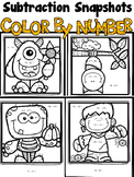 Color By Number Halloween Subtraction Snapshots