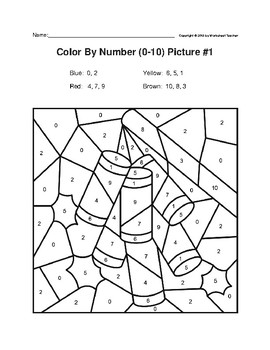 Color By Number Kindergarten Chinese New Year Firecrackers/Lantern Puzzles