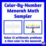Color By Number Menorah Math Sampler {No Prep}