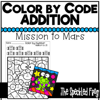 Color By Number: Mission Space Kindergarten & 1st Grade Addition
