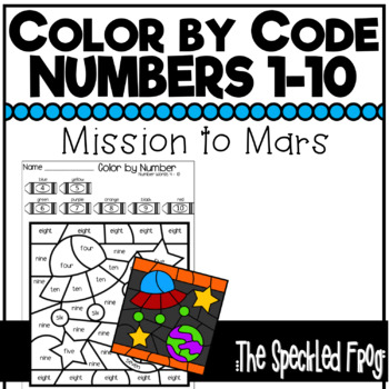 color by number numbers 1 10 space theme