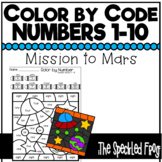 Color By Number:  Numbers 1 - 10: Space Theme
