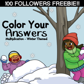 Color By Number - Multiplication {100 Follow Freebie!}