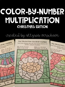 Color-By-Number Multiplication: Christmas Edition