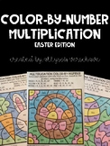 Color-By-Number Multiplication: Easter Edition