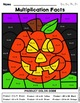 Color By Number Multiplication Halloween Edition