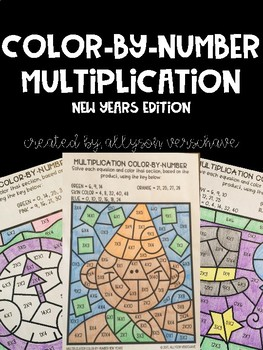 Color-By-Number Multiplication: New Years Edition