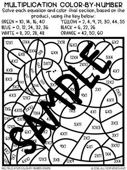 Color-By-Number Multiplication Season Bundle