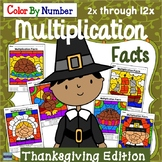 Color By Number Multiplication Thanksgiving Edition
