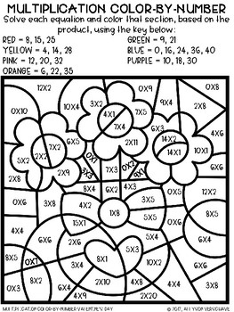 Color-By-Number Multiplication: Valentine's Day Edition
