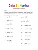 Color By Number:  Multiplying Fractions