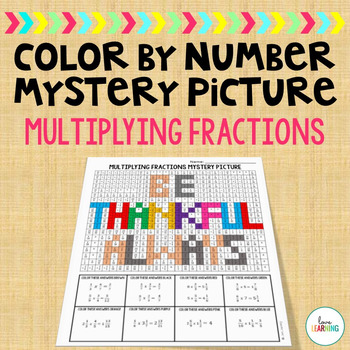 Color By Number Mystery Picture: Multiplying Fractions