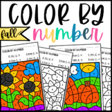 Fall Color By Number 1-10: Number Recognition
