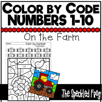 Color By Number:  Numbers 1 - 10:  On the Farm