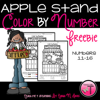 Color By Number| Numbers 11-16|Fall
