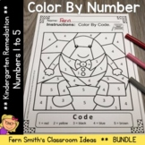 Color By Number Nursery Rhymes For Numbers 1 to 5 Color By