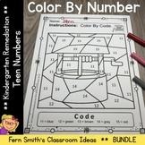 Color By Number Nursery Rhymes For Teen Numbers Color By Code Bundle