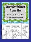 Color By Number & Other Skills {Winter Theme}