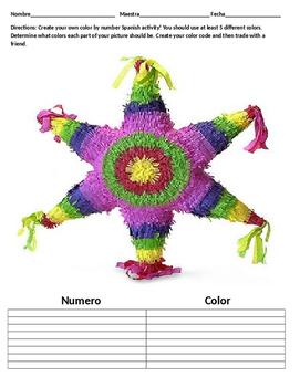 Color By Number! Pinata, Sombrero, or Maracas!