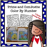 Color By Number - Prime and Composite Numbers Spring Theme Math TEKS 5.4A