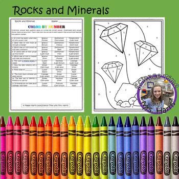 Color By Number- Rocks and Minerals