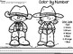 Color By Number Rodeo {Western Animals/ Farm} Kindergarten Number Identification