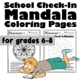 Color By Number: School Check In Mandalas