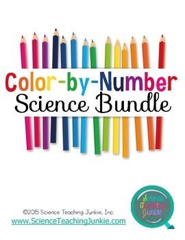 Color-By-Number Science BUNDLE