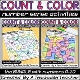 Color By Number Sense Activities 0-20 BUNDLE