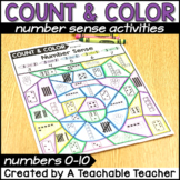 Color By Number Sense Activities