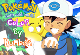 SPANISH Color By Number: Pokemon Page