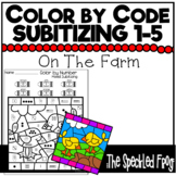Color By Number: Subitizing Numbers 0 - 5: Farm Theme