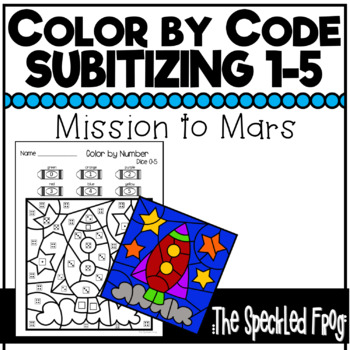 Color By Number: Subitizing Numbers 0 - 5: Space Theme