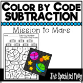 Color By Number: Subtraction: Space Theme
