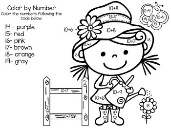 Color By Number- Teen Numbers Expanded Form