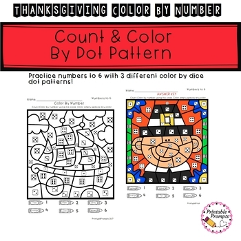Color By Number - Thanksgiving