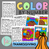 Color By Number: Thanksgiving Edition