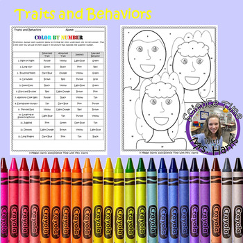 Color By Number- Traits and Behaviors