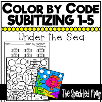 color by number subitizing numbers 0 5 ocean theme