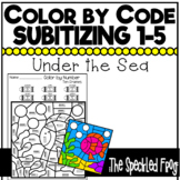 Color By Number:  Subitizing Numbers 0 - 5:  Ocean Theme