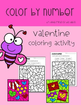 Color By Number: Valentine Coloring Activity