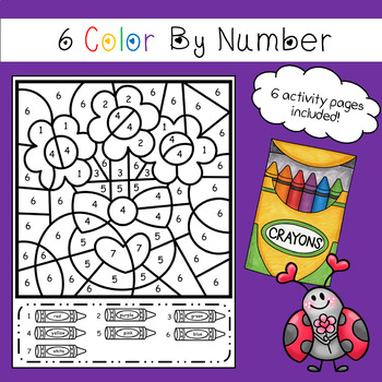 Color By Number - Valentines Day Theme